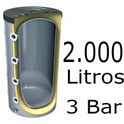 ACUMULADOR DE 2000 LITROS V-2000 ( DEPOSITO DE INERCIA ) 3 BAR TESY