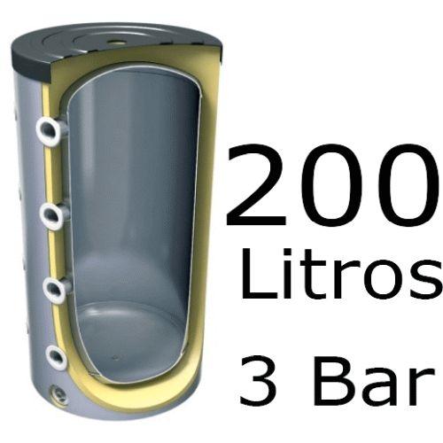 ACUMULADOR DE 200 LITROS V-200 ( DEPOSITO DE INERCIA ) 3 BAR TESY