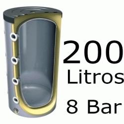 ACUMULADOR DE 200 LITROS EV-200 ( DEPOSITO DE INERCIA ) 8 BAR TESY