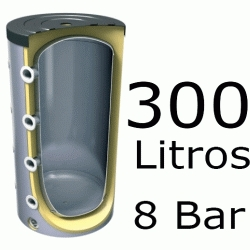 ACUMULADOR DE 300 LITROS EV-300 ( DEPOSITO DE INERCIA ) 8 BAR TESY