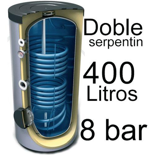 INTERACUMULADOR EVS2 DE 400 LITROS DE DOBLE SERPENTIN Y 8 BAR TESY