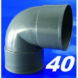 CODO DE PVC PARA ENCOLAR DE 40 87º HEMBRA HEMBRA GRIS, HH H-H CURVA Recomendado ECNMC para encolar CURBA codos SANITARIOS SANITARIAS ACCESORIOS PARA H/H