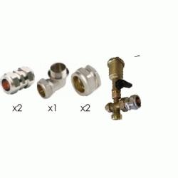 KIT DE 18mm CON PURGADOR PARA CONEXION 2 PANELES FERCO 2KITS B